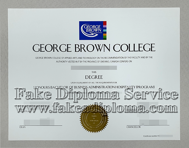 Fake George Brown College degree, Fake Canadian University diploma certificate.