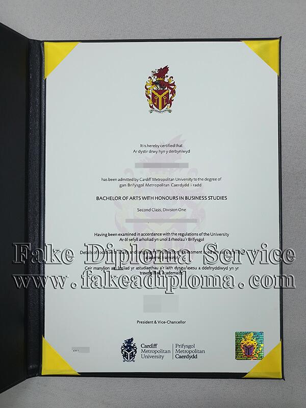 Buy fake Cardiff Metropolitan University diplomas