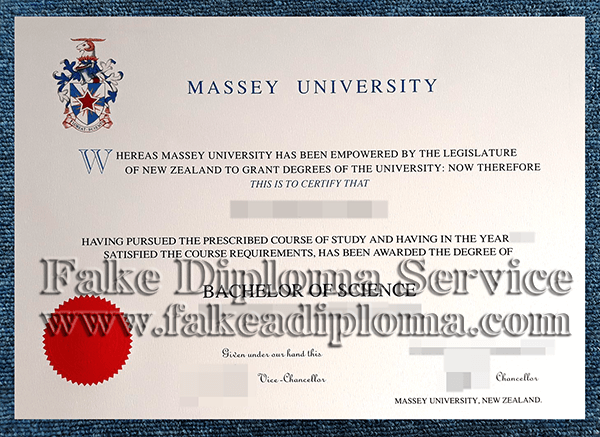 fake Massey University diploma