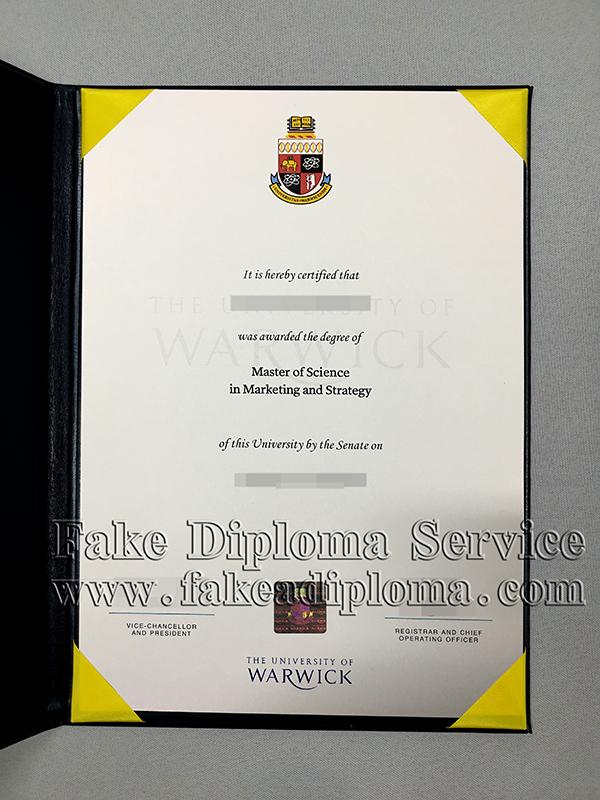 Fake University of Warwick Diploma