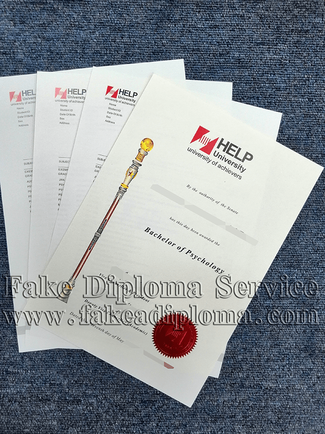 Fake HELP University Diploma