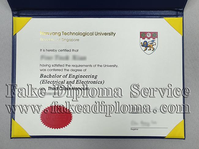 Fake Nanyang Technological University Diploma