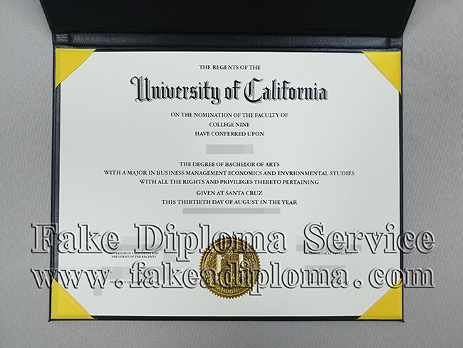 Fake UCSC Degree, Fake University of California Santa Cruz Diploma.