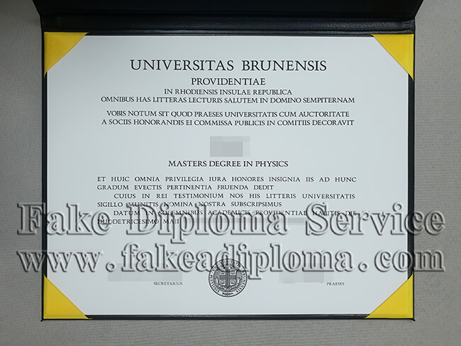 Fake Brown University Diploma