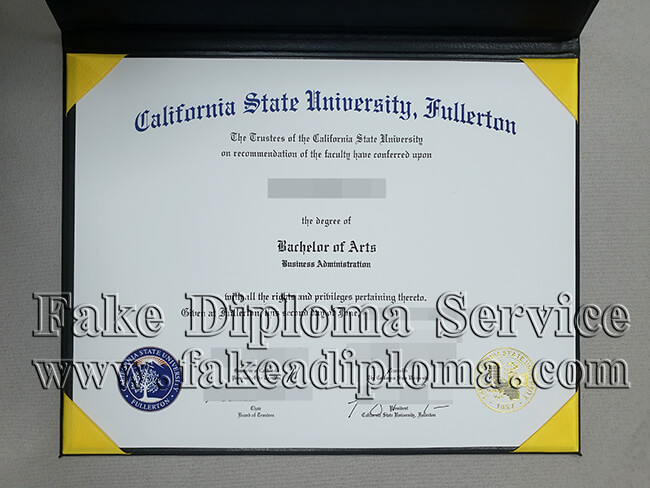 Fake California State University Fullerton Diploma, fake CSUF degrees.