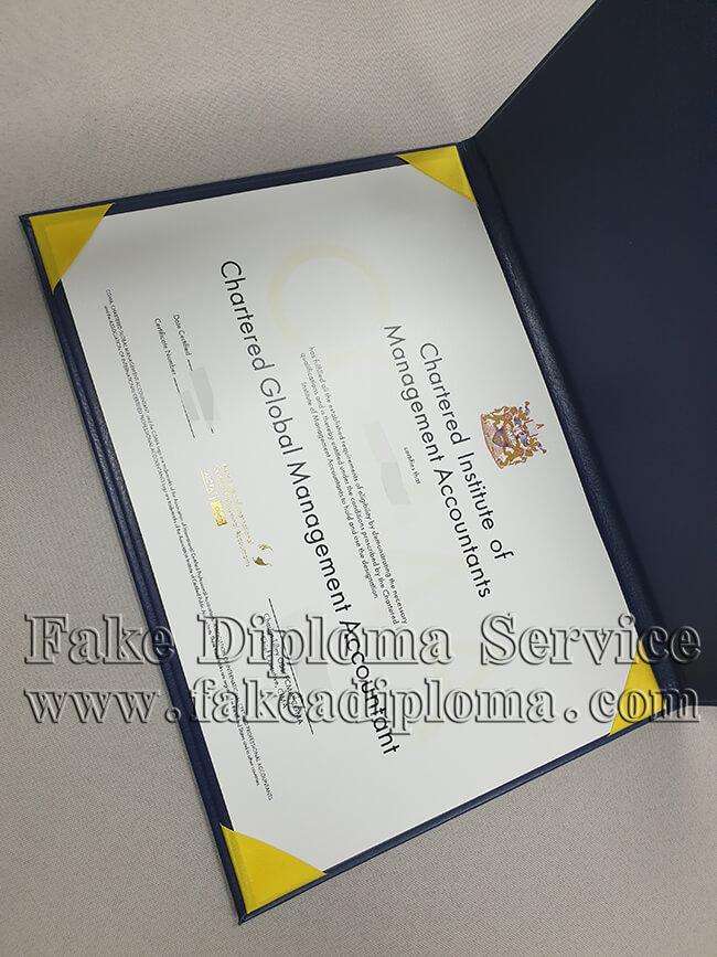 Fake CIMA Certificate