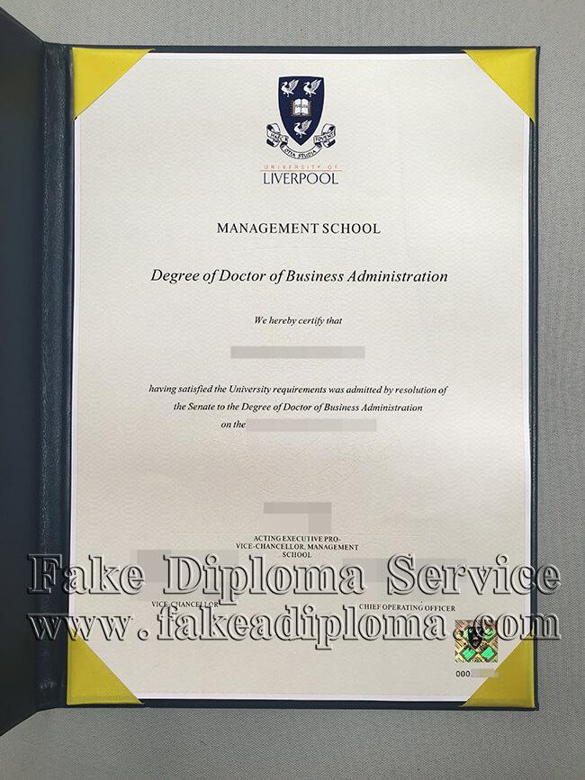 fake UoL diploma certificates, fake University of Liverpool degree certificate.