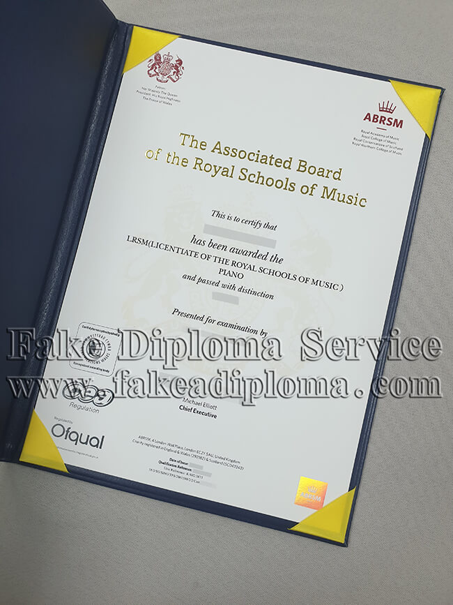 Fake Royal College of Music Diploma