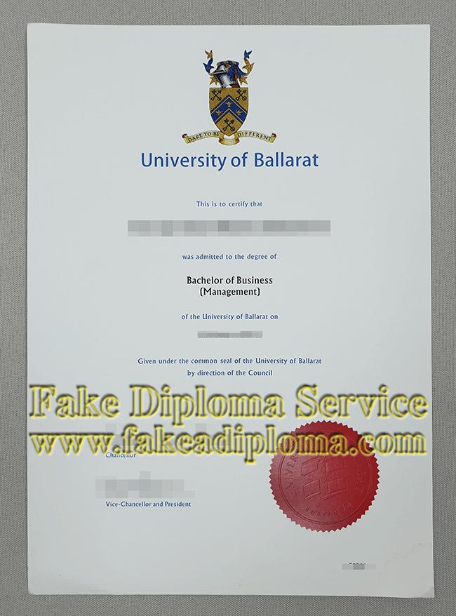 Fake University of Ballarat Degree, Fake UB Diploma.