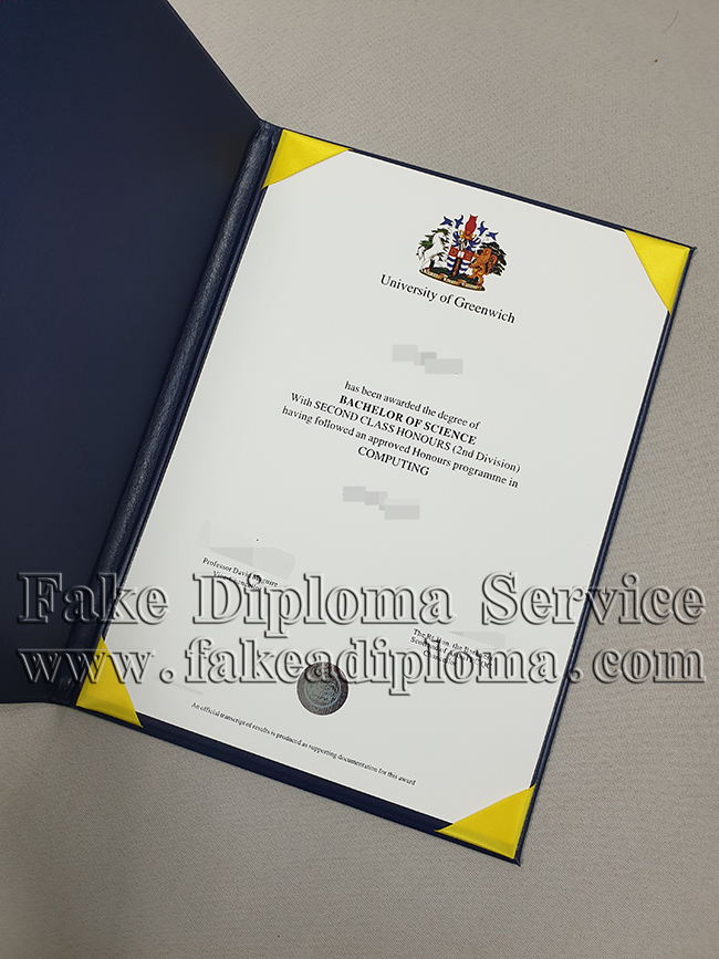 Fake University of Greenwich Diploma
