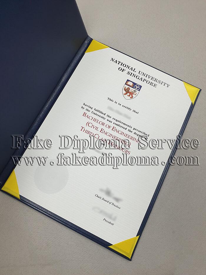 Fake National University of Singapore Diploma, fake National University of Singapore degree.