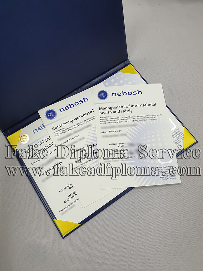 fake NEBOSH certificate