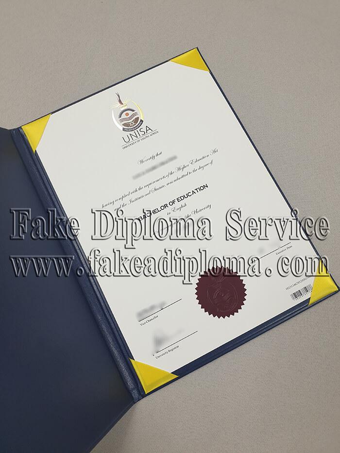 fake University of South Africa Diploma
