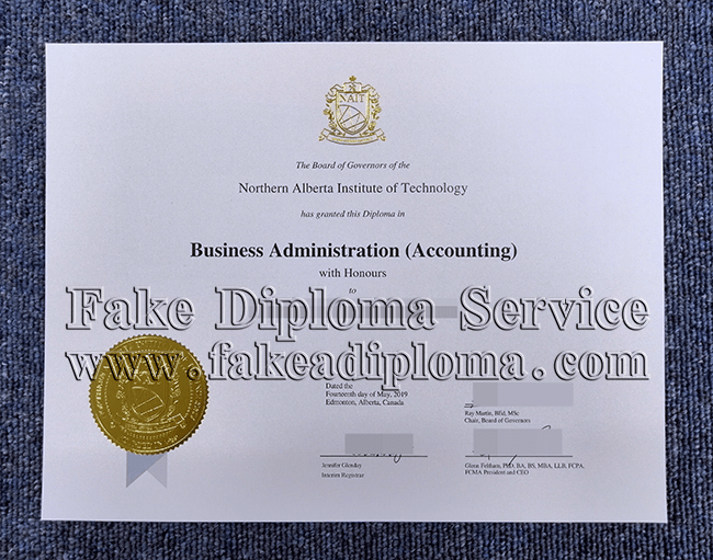 Fake NAIT diplomas, fake Northern Alberta Institute of Technology degree.