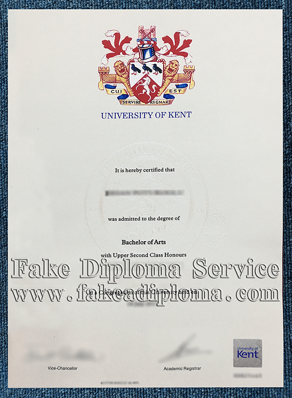 Fake UKC degree certificate, fake University of Kent diplomas.