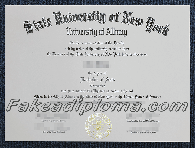 fake State University of New York at Albany degree certificate, fake SUNY diploma
