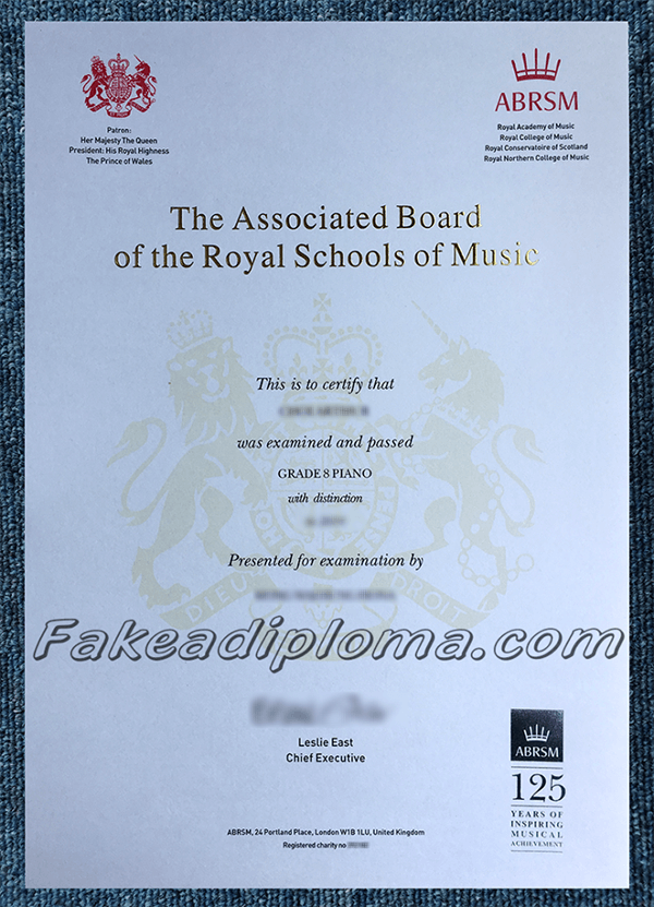 Fake Royal College of Music Diploma Certificate
