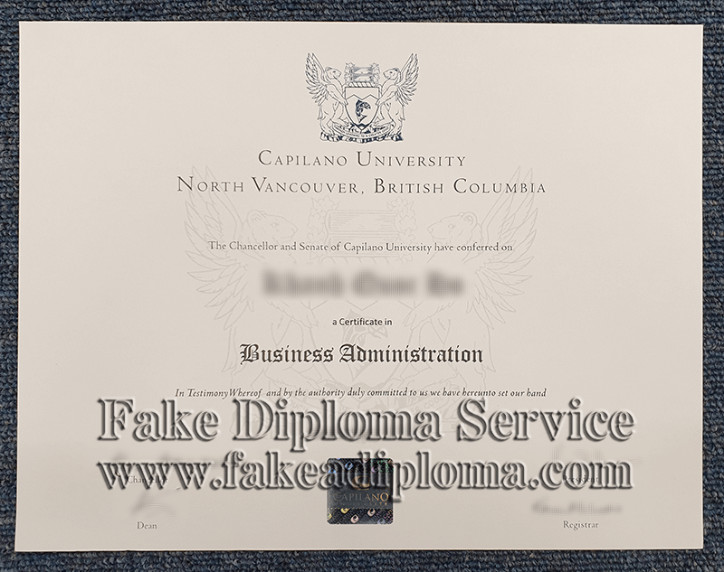 Fake Capilano University Diploma, fake Capilano University degree.