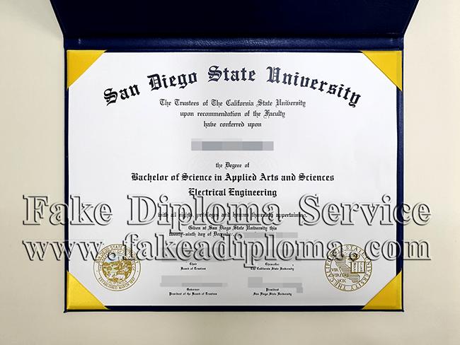 Fake San Diego State University Diploma