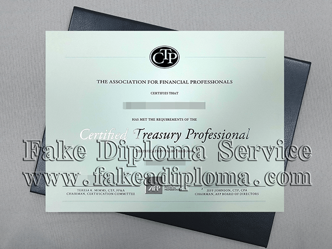 Certified Treasury Professional, CTP Certificate.