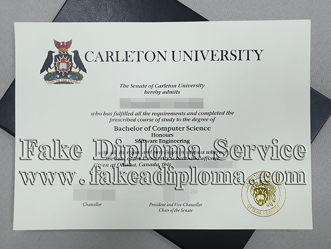 Carleton University Fake Diploma, Fake CU Degree Certificate.