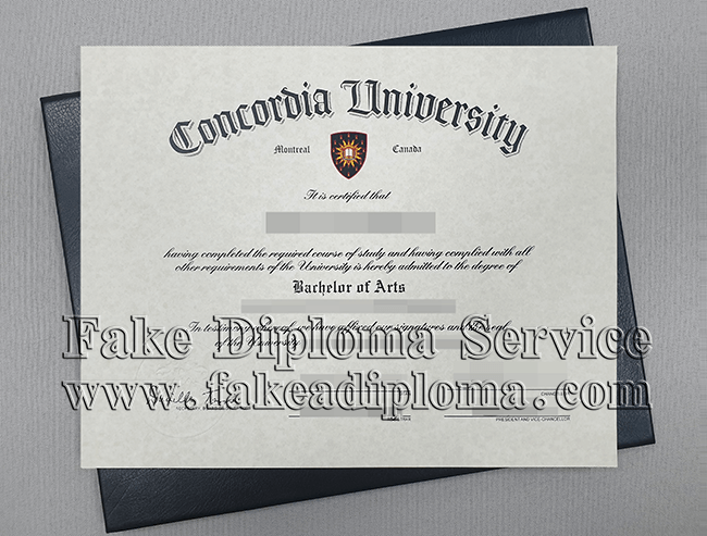 Concordia University Diploma, Fake Concordia Degree.