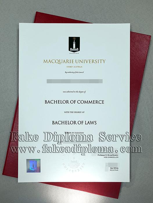 Fake Macquarie University Degree Online, Fake MQU Diploma.
