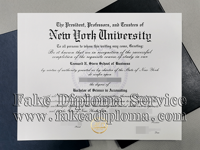 Fake New York University Diploma