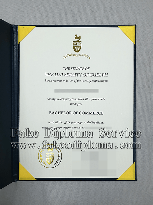 Get the University of Guelph Diploma Certificate, fake University of Guelph degree