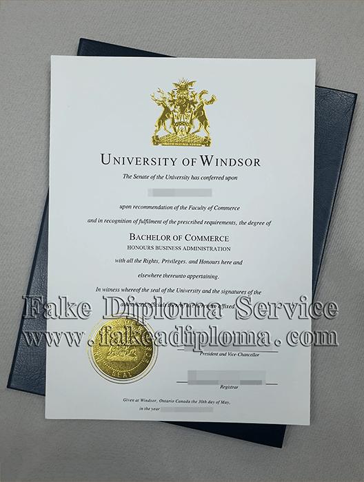 Fake University of Windsor Diploma Online