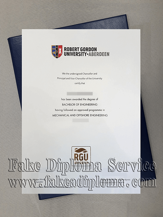 Robert Gordon University Diploma, RGU Degree Certificate.