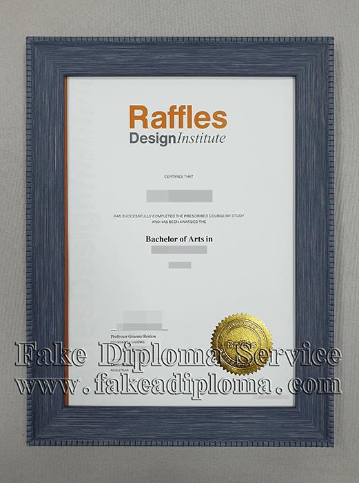 fake Raffles Design Institute Singapore diploma certificate