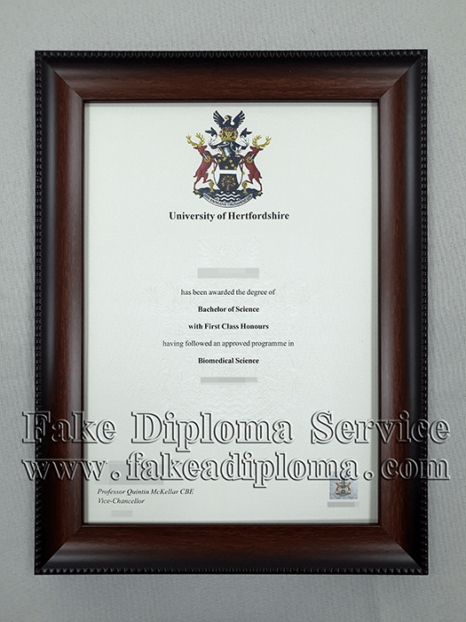 fake University of Hertfordshire diploma