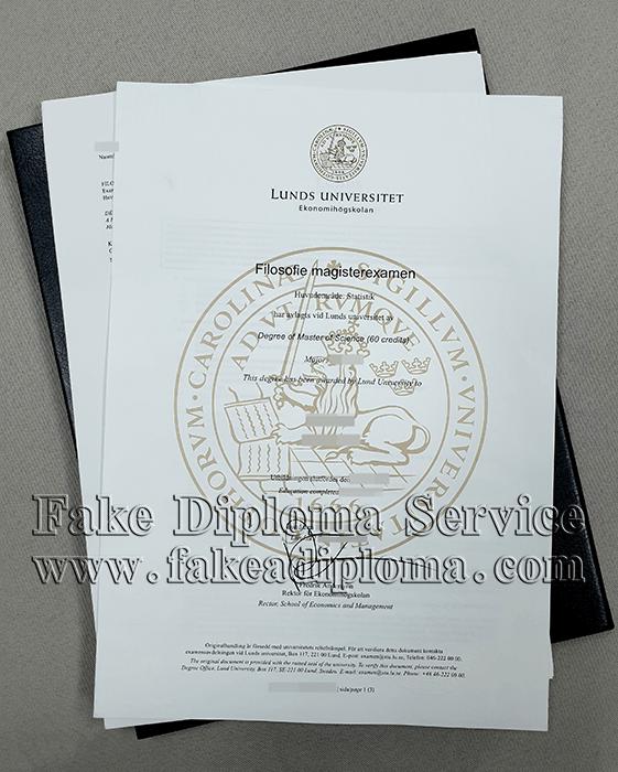Lundes University Fake Diploma, Lundes University fake transcript