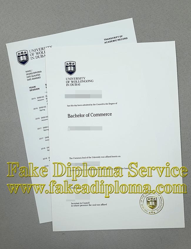 fake UOWD degree, fake University of Wollongong diploma.