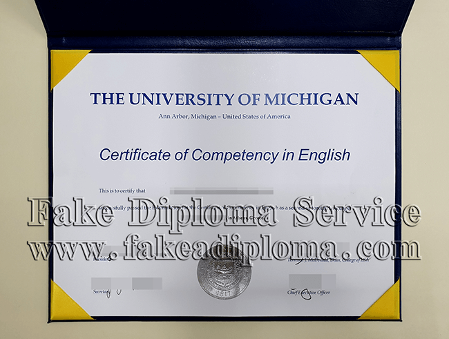 Fake University of Michigan Diploma Certificate, buy fake UMich degree.