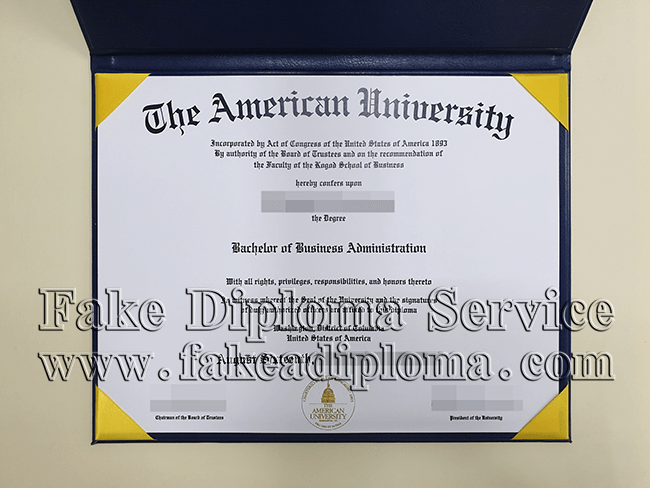 fake American University diploma, fake fake American University degree.
