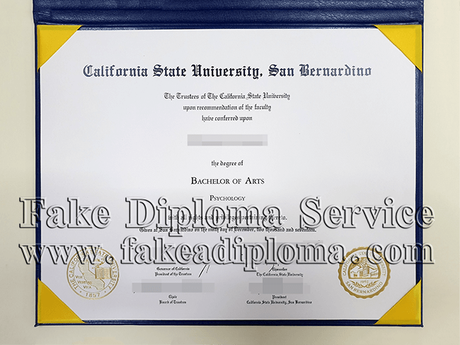 fake CSUSB diploma, fake California State University-San Bernardino degree
