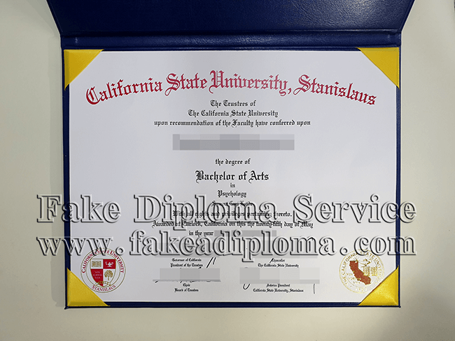 fake California state university-Stanislaus diploma, fake California state University degree.
