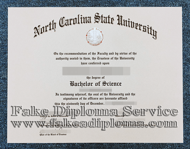 Fake North Carolina State University Diploma