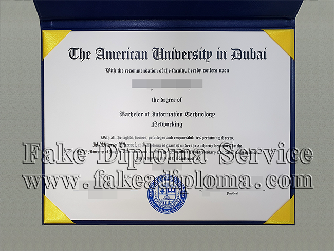 AUD fake diploma, Dubai university fake degree.