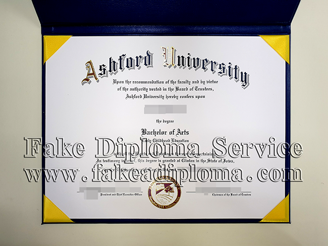 fake Ashford university diploma, fake USA university degree.