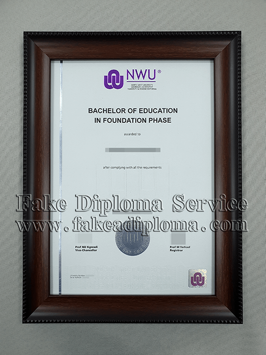 Fake North-West University Degree, fake NWU Diploma.