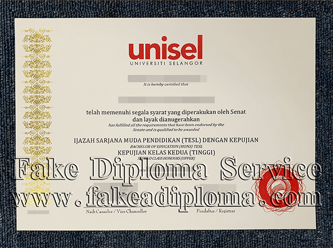Fake Universiti Selangor Diplomas, Fake Universiti Selangor Degree Certificate.