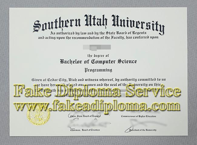 fake SUU Diploma Online, fake Southern Utah University Degree
