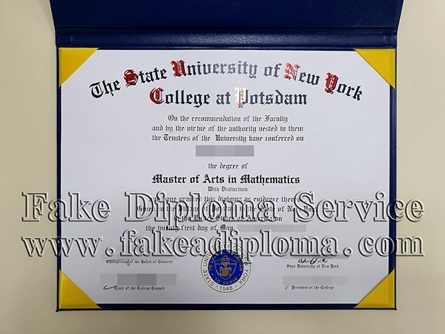 fake State University of New York-Potsdam diploma
