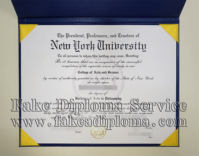 fake New York University diploma certificate, fake NYU degree.