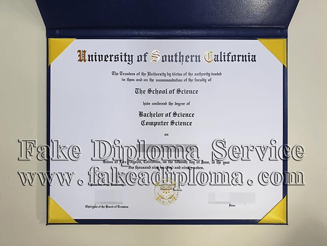 Fake University of Southern California Diploma