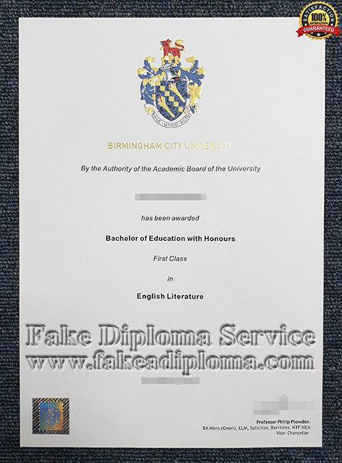 Fake Birmingham City University Diplomas, fake BCU degree.