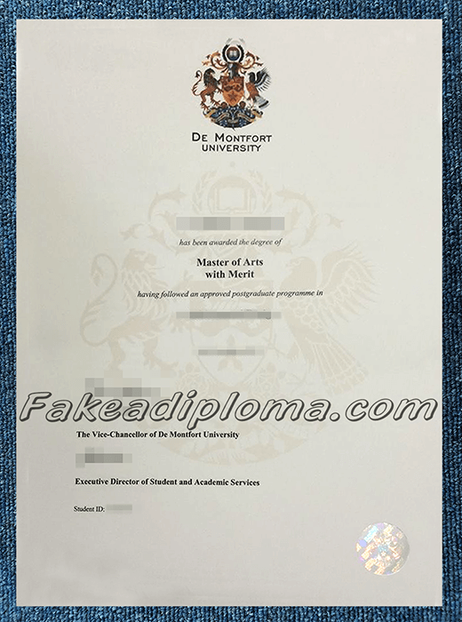 Fake De Montfort University Dragees, fake DMU diplomas.